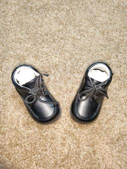 JOSMO 19878 Black Lace up Casual Walking Dress Shoes Infant