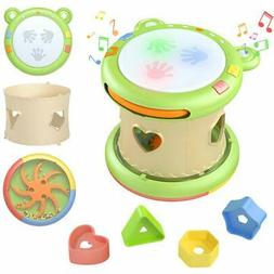 TUMAMA 3-in-1 Baby Musical Activity Cube Toys for 6 9 12 18