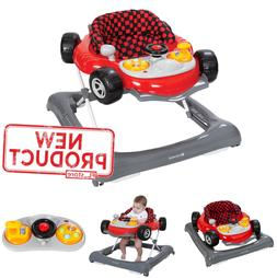 Adjustable Baby Walker Toy Console Activity Car Home Toddler