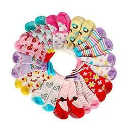 Assorted Non Skid Ankle Cotton Socks Baby Walker Toddler Ant