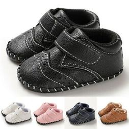 Baby Boy Girl PU Leather Anti-Slip Shoes Sneaker Toddler Sof