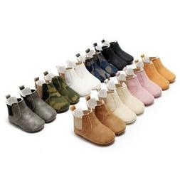 Baby Boy Girl Soft Leather Pre Walker Boots Sneaker Newborn