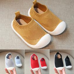 Baby Boy Girl Solid Anti-Slip Shoes Casual Sneakers Soft Sol
