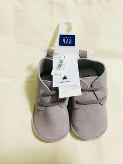 Gap Baby Boy Suede Booties Shoes Size 6-12 Months NWT