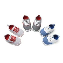 Baby Boys Girls Cotton Shoes Soft Sole First Walker Casual W