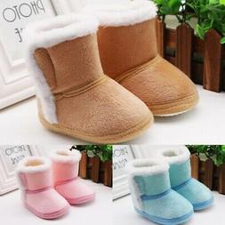 Baby Girl Boy Cotton Warm Boots Shoes First Walkers Newborn