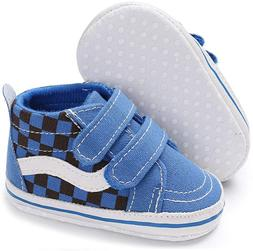Meckior Baby Girls Boys Sneakers Soft Sole High-Top Ankle In