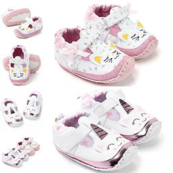 Baby Girls Cute Sneakers Leather Holiday Crib Soft First Wal