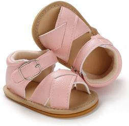 SOFMUO Baby Girls Sparkly Bowknot Sandals Toddler First Walk
