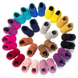 Newborn Baby Infant Shoes Crib Boy Girl Babe Moccasins Moccs