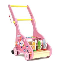 Baby Infant Walker Stroller Cart Push and Pull Education Toy