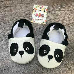 LIDIANO Baby Panda Infant Slippers Non-Slip  6-12 months NEW