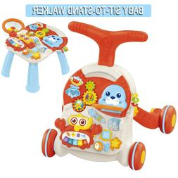 Baby Sit-to-Stand Walker & Table Drawing Board Toys Activity