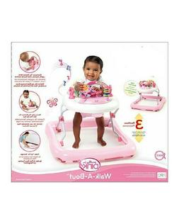Baby Walker For Girl Pink And White Color With Sound And Lea