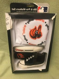 Baby Fanatic Bib with Pre-walker,Baltimore Orioles, NEW, FRE