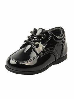 Josmo Boys Black Patent Leather Double Buckle First Walker S