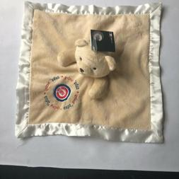 BABY FANATIC CHICAGO CUBS BEAR SECURITY BLANKET LOVEY BEIGE