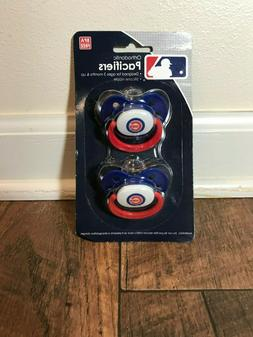 Chicago Cubs Pacifiers 2 Pack Set Infant Baby Orthodontic Fa