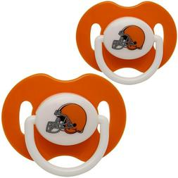 Cleveland Browns NFL Pacifier 2 Pack Baby Toddler BPA FREE N