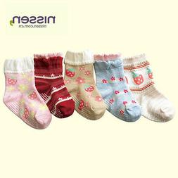 Cute Baby/Girls Pink Toddler Walker Cars Socks Hot Non-slip