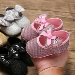 Cute Bowties Newborn Baby Shoes 0-18Month Infant First Walke