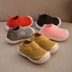 Fashion Baby First Walkers Mesh Breathable Toddler Slip on S