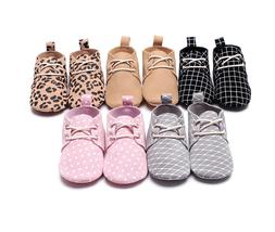 Genuine Leather Animal Mesh Print Girls Baby Shoes Soft Sole