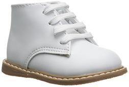Baby Deer High Top Leather First Walker ,White,3 M US Infant