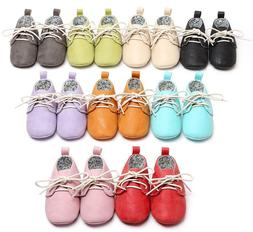 HONGTEYA toddler baby moccasins soft Pu leather Casual boot