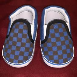Infant Meckior Boys Checkered Blue & Black First Walker Snea