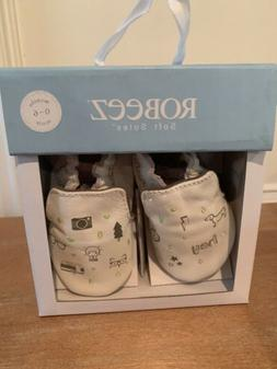 ROBEEZ Infant Random Icons Crib Shoe 0-6 Months NEW WITH BOX
