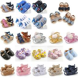 kids baby girls soft sole crib shoes