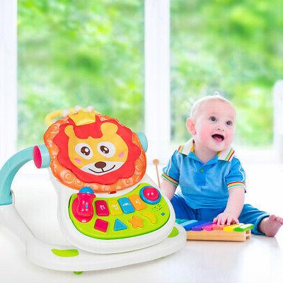 4 in 1 Baby Sit-to-stand Activity Walker Stroller Learning T