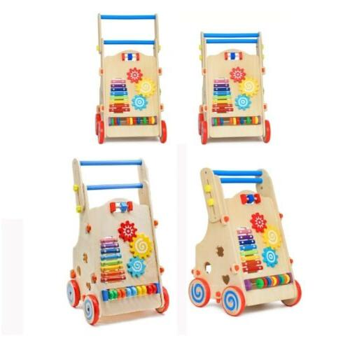 Adjustable Wooden Toddler Toys with Activity Toys Center