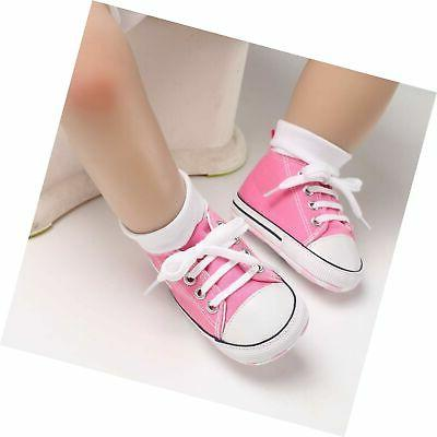 Canvas Shoes Soft Toddler First H...