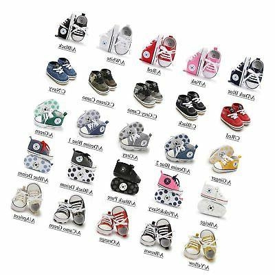 Antheron Baby Girls Boys Canvas Shoes Sole Toddler First H...