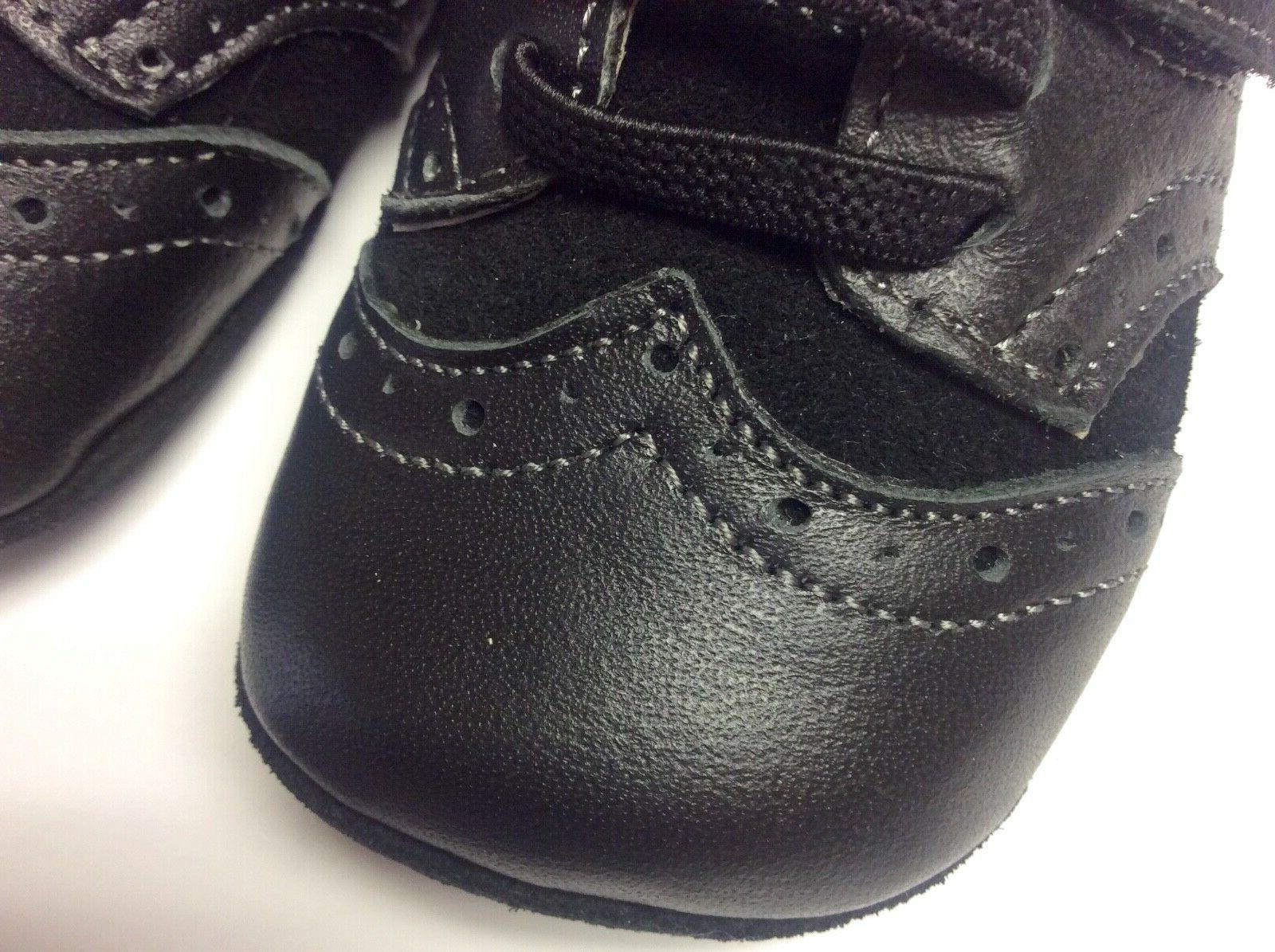 See baby Abe tip walker black leather soft sole