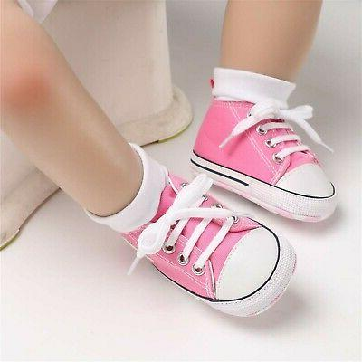 BENHERO Girls Boys Canvas Shoes Toddler First New