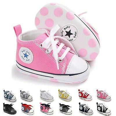 baby girls boys canvas shoes toddler infant