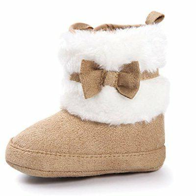 LIVEBOX Girls' Soft Sole Bow Mid Winter Infant