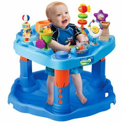 Baby Infant Walker First Steps Stand Fun Blue Play Center Ac