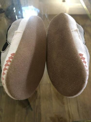 Robeez Shark Crib Shoes 0-6 Gray Leather Sole