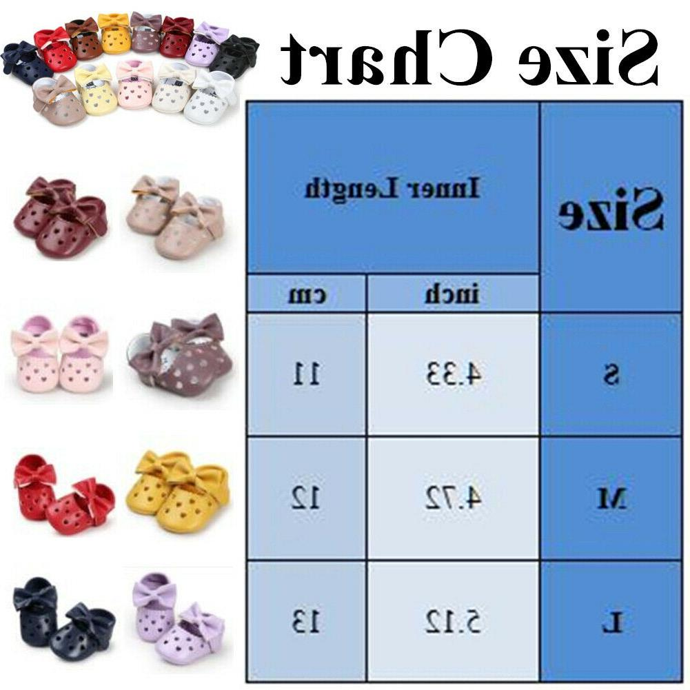 Baby Shoes Beautiful Bow-knot Pattern Leather Soft Sole Walker Slippers