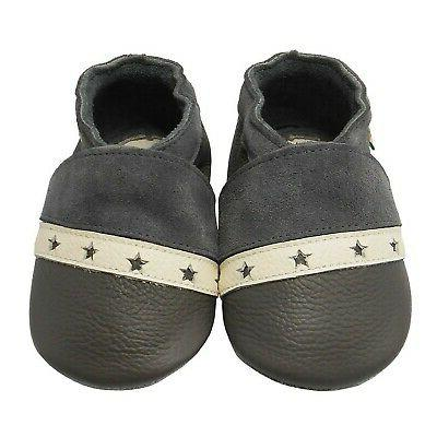 Sayoyo Soft Leather Infant Crib Shoes Toddler Pre-Walker Shoes New