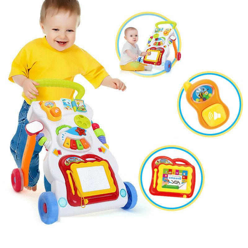 Sit-to-Stand Learning Walker Baby Toy Music