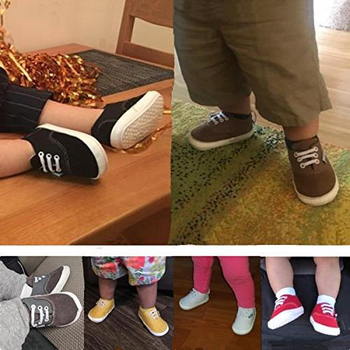 Baby Boys Girls Shoes Canvas Sneakers Anti-Slip