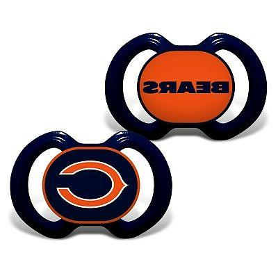 chicago bears pacifiers 2 pack set infant