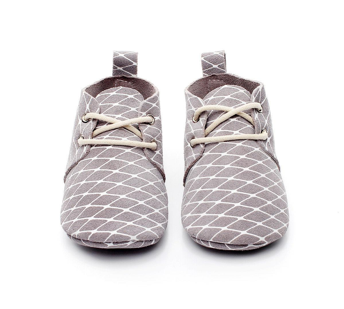 Genuine Leather Animal Mesh Print Shoes Infant