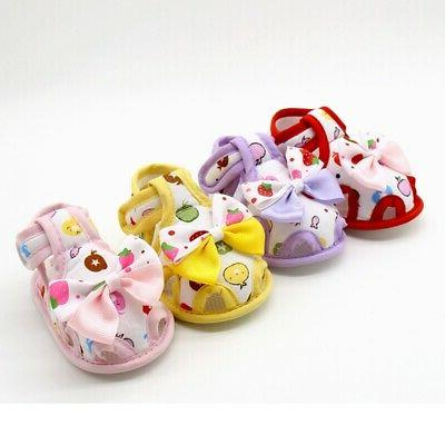 Kids Baby Soft Sole Crib Shoes Toddler Princess Sandals