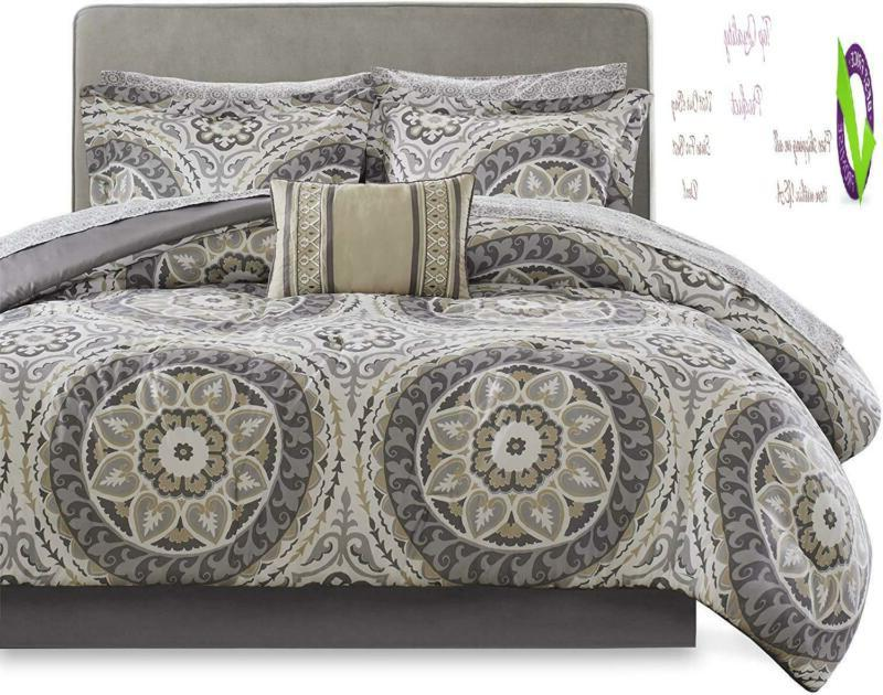Madison Park Mpe10-154 Essentials Serenity Complete Sheet Set Cal T